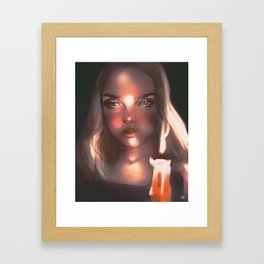 night time is my time Framed Art Print