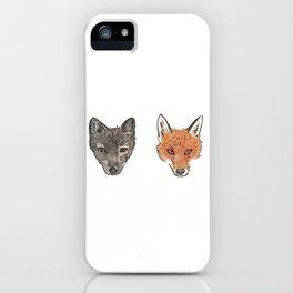 Arctic Fox Red Fox iPhone Case