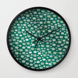 green shiny mosaic Wall Clock