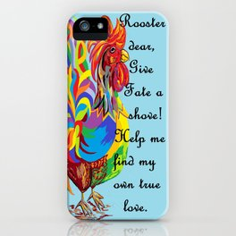 German Folklore Roosters and Husbands iPhone Case