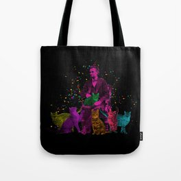 Preposterous Presidents - Lincoln - Rainbow Cat Party Tote Bag