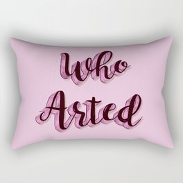 Who Arted - Pink Palette Rectangular Pillow