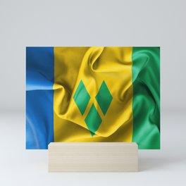 Saint Vincent and the Grenadines Flag Mini Art Print