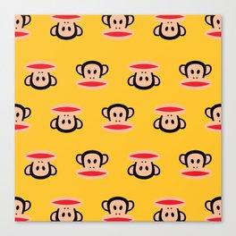 Julius Monkey Pattern by Paul Frank - Yellow Canvas Print