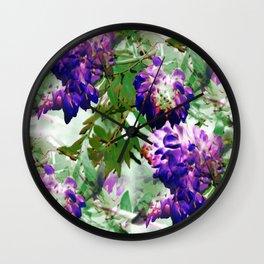 Wisteria - Seamless IA Wall Clock