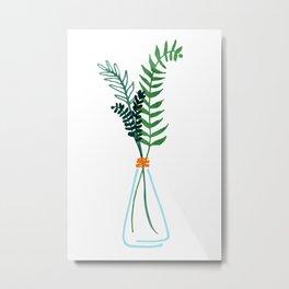 Winter Herbs / Botanical Illustration Metal Print