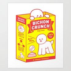 BICHON CRUNCH Art Print