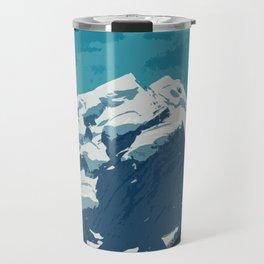 Aoraki Mount Cook glacier summit in summer Travel Mug