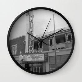 Vintage Neon Sign - The Rialto Theater - Tucson Arizona Wall Clock