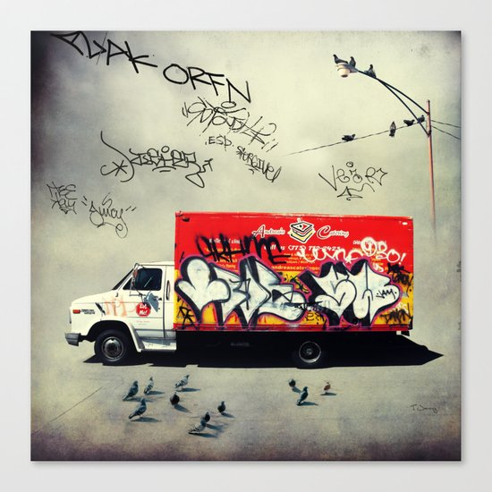 Andrea's Catering Truck Canvas Print