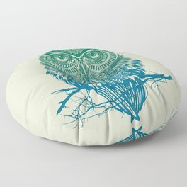 Warrior Owl Floor Pillow