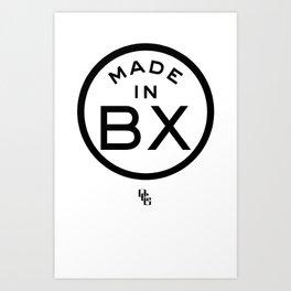 The Bronx (black) Art Print