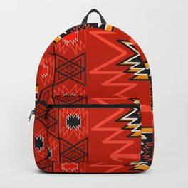 Ethnic lines in red Backpack