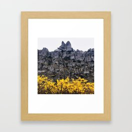 Cliffs in Iceland Framed Art Print