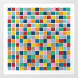 Colour Block Outline Art Print