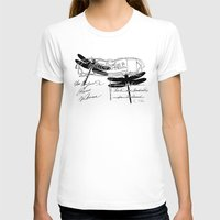 postcard T-shirts featuring Dragonflies postcard by Marion de Lauzun
