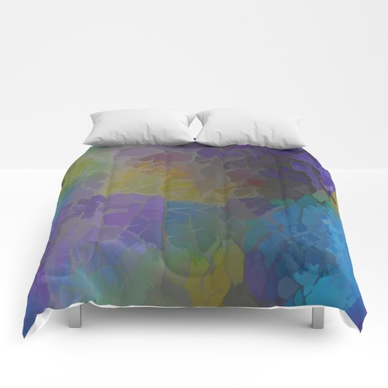 Rainbow Mosaic Abstract Comforters