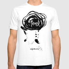 feel Mens Fitted Tee White SMALL