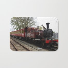 Isle of Man Vintage Steam Train Locomotive Bath Mat