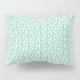 Tri-Star Teal Pillow Sham