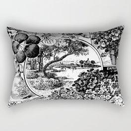 Childs' Dwarf Nasturtiums 1895 Rectangular Pillow