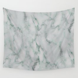 Ariana verde - smoky teal marble Wall Tapestry
