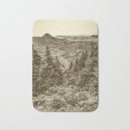 retro landscape Bath Mat