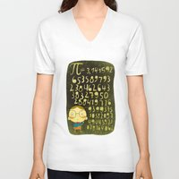 pi V-neck T-shirts featuring Pi by angry bean