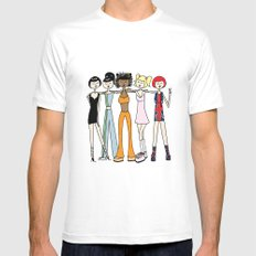 The Spice Girls MEDIUM White Mens Fitted Tee