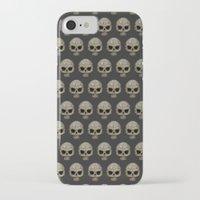polkadot iPhone & iPod Cases featuring Odd Skull Polkadot by Luke Clark