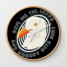Eat like a seagull Wall Clock
