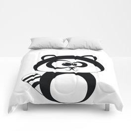 Cute Funny Raccoon Comforters