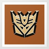 transformers Art Prints featuring Transformers by FilmsQuiz