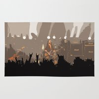 rock and roll Area & Throw Rugs featuring Motorhead Rock and Roll  by Premium