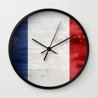 france Wall Clocks featuring France by Arken25
