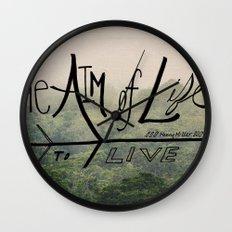 The Aim of Life Wall Clock