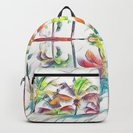 Rainbow Pastel Palm Trees Backpack