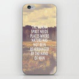 The Human Spirit iPhone Skin