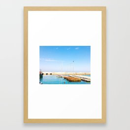 Yafo Port Framed Art Print