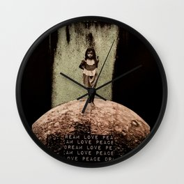 Safe Spaces - Taking Refuge in the Matrix of Love, Peace, and Dreams Wall Clock
