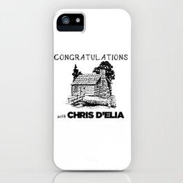 Chris D'elia Congratulations Podcast Log Cabin iPhone Case
