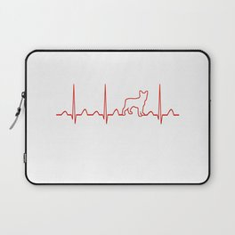 Boston Terrier Heartbeat Laptop Sleeve