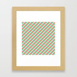 Candy Inclined Stripes Framed Art Print
