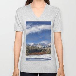 Rocky Mountain Park  by Lena Owens Unisex V-Neck
