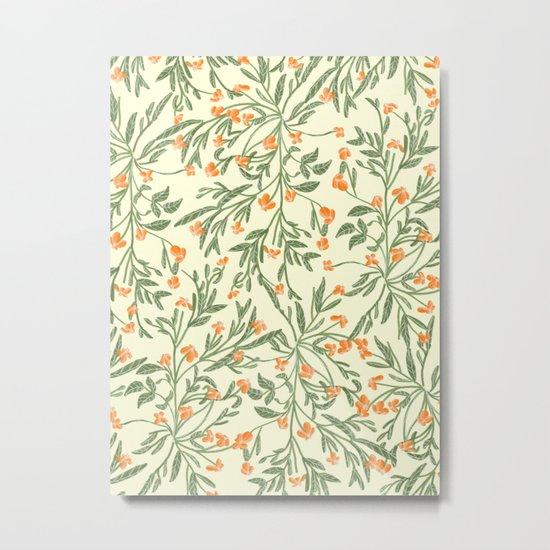 Wonder Garden Pattern Metal Print