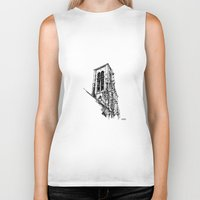 gothic Biker Tanks featuring Gothic Church by Alessia Pelonzi