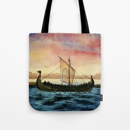 Drakkar, watercolor Tote Bag