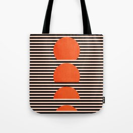 Abstraction_SUNSET_LINE_ART_Minimalism_001 Tote Bag