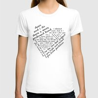 destiel T-shirts featuring Quotes of the Heart - Destiel (Black) by fairy911911