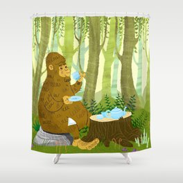Bigfoot Busted Shower Curtain